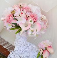 Cheap DIY New creative Bride bridesmaid wedding hand holding pink flower bouquet Wedding decoration bouquet