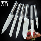 XYj Japanese Stainless Steel Kitchen Knives Set Fruit Paring Utility Santoku Chef Slicing Bread Kitchen Knife Set Accessories