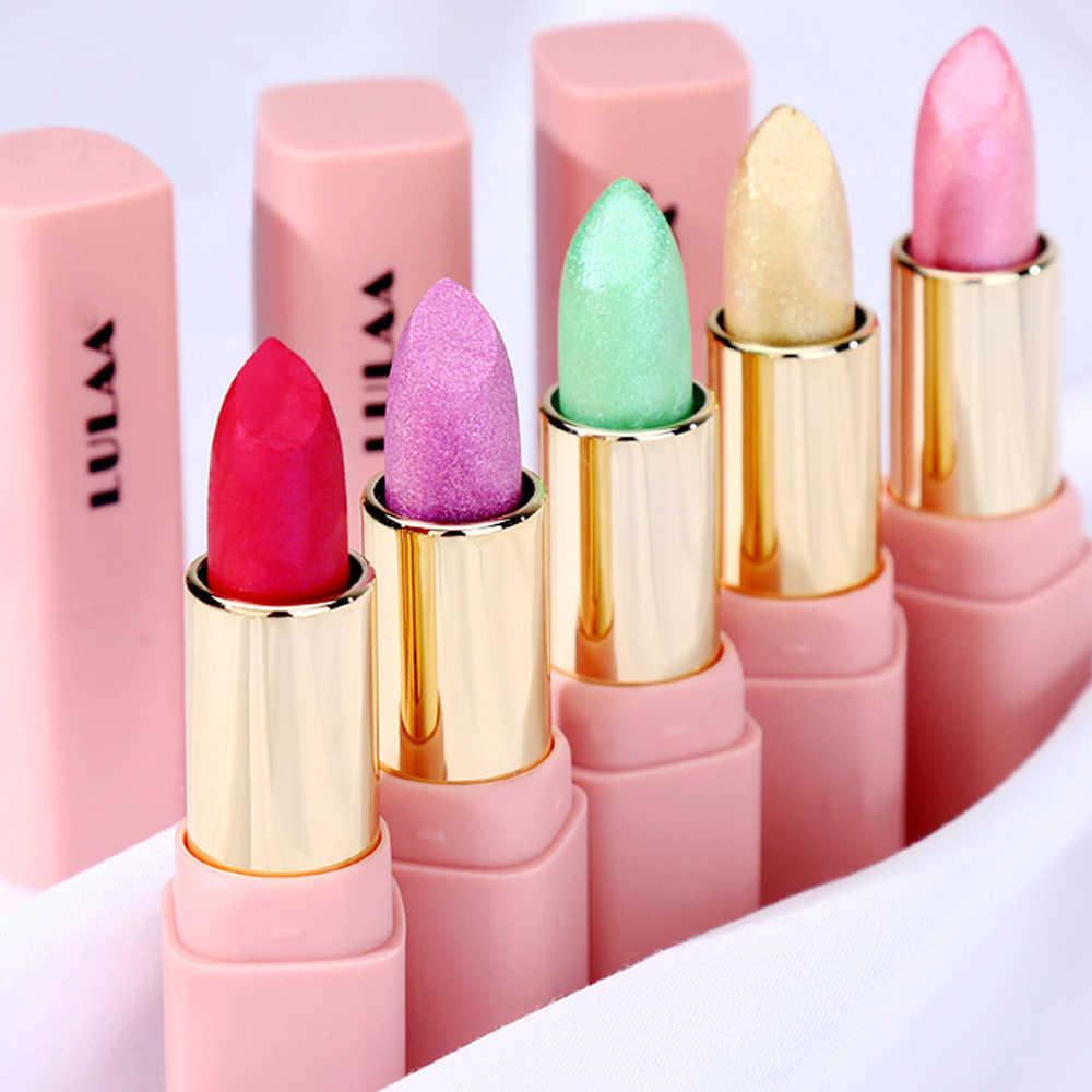 גבירותיי שפתון 8 צבע פנינה גלוס איפור זהב הבלחה צבע שפתון קוסמטיקה שנמשך לחות ברק TSLM2
