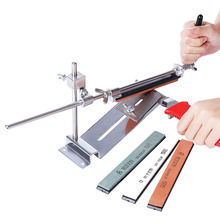 Professional Knife Sharpener Ruixin Pro Stainless Steel Sharpening System Kitchen Tool Accessories Grinding Knife Sharpening Set kme knife sharpener professional sharpening knife portable 360 degree rotation fixed angle apex edge knife sharpener with stones