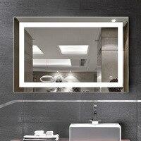 Современные Простые Творческий Водонепроницаемый противотуманные 60*80 см Многофункциональный светодиодный свет зеркало для Ванная комнат
