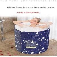 Household Folding Bath Barrel Adult Large Bath Barrel Household Thermal Bath Barrel Children's Bath Barrel