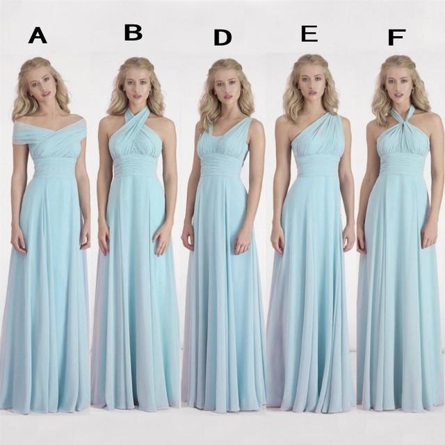 Dusty blue dress for wedding
