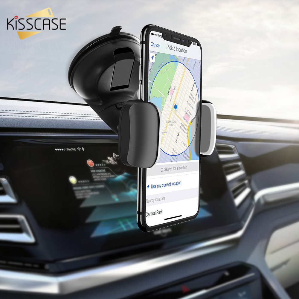 KISSCASE Suction Cup Car Phone Holder For Samsung A50 A70 A40 Smartphone Car Holder For IPhone 11 Pro MAX Huawei P30 Pro Xiaomi