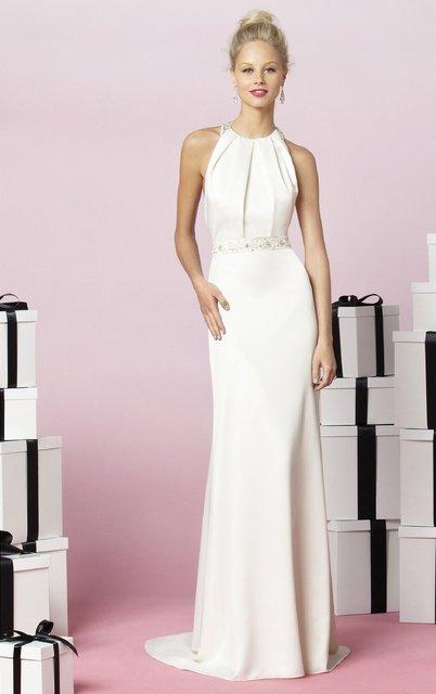White Floor Length Bridesmaid Dresses