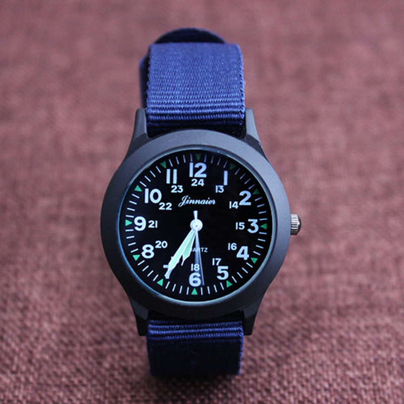 Jinnaier New Famous Brand Men Children Boys Fashion Cool Quartz Saber Watches Students Canvas Electronic Wrist Watch