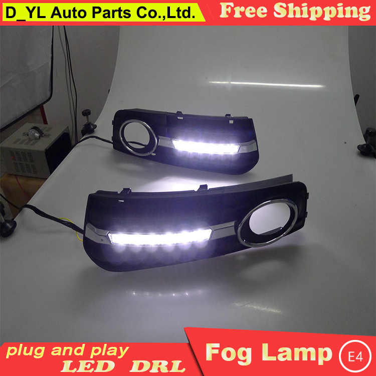 D_YL Car Styling led DRL For Audi A4 B8 Sedan Avant 2009-2012 led Daytime running lights led fog lamps light car stylin