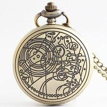 Free Wing Pocket Watch Necklace Men Women Steampunk Chain Pocket Watches Vintage Roman Numerals Quartz Fob Watch