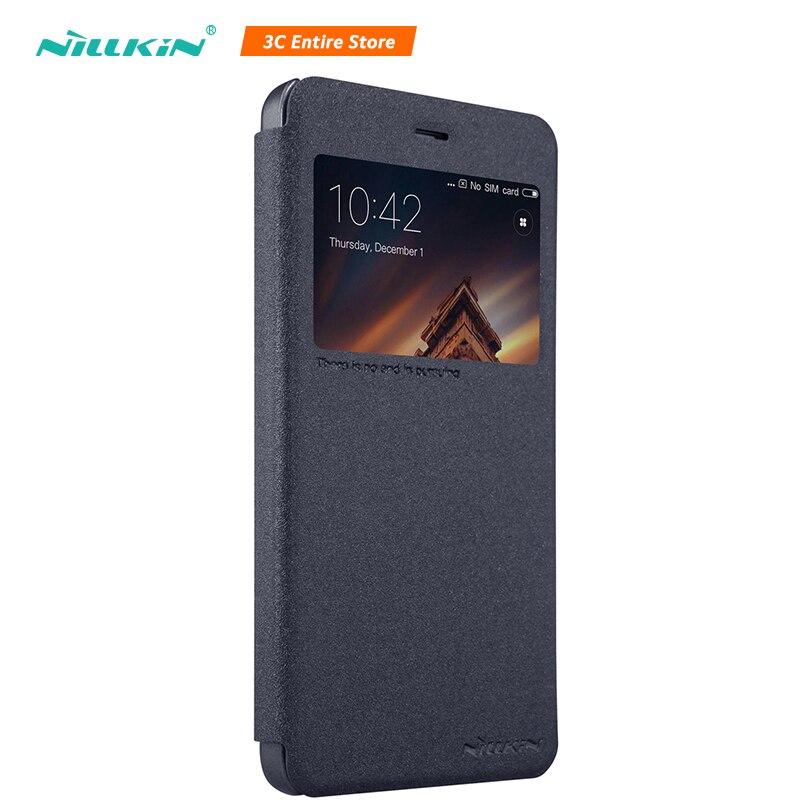 Nillkin чехол для телефона чехол для Xiaomi Redmi 4A Новый Блеск кожаный чехол для Redmi 4A полный охват Вид из окна защиты Capinha