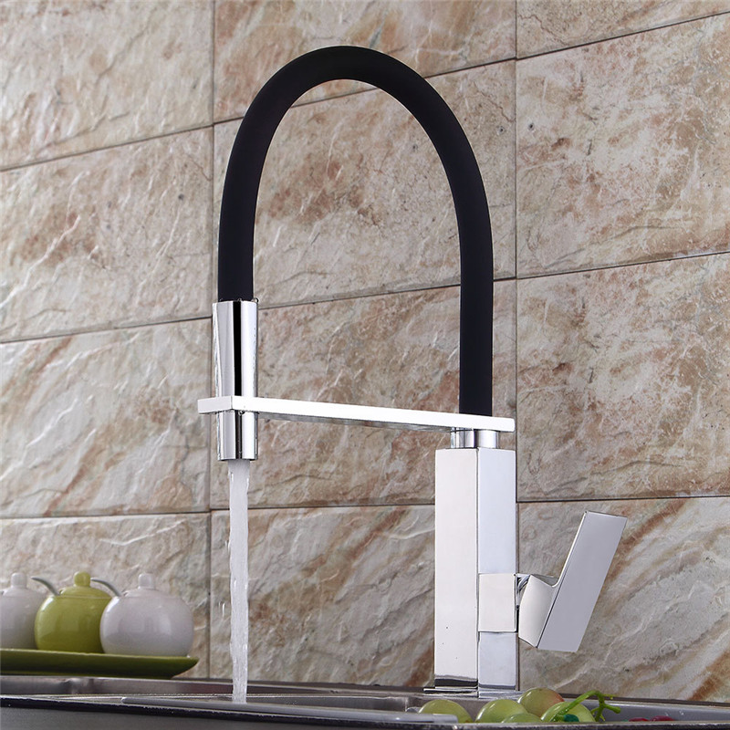 Kitchen Faucet Chrome Brass Pull Out Sink Crane Kitchen Sink Pull Down Spring Spout Mixer Tap Hot Cold Deck Mounted TorneiraKitchen Faucet Chrome Brass Pull Out Sink Crane Kitchen Sink Pull Down Spring Spout Mixer Tap Hot Cold Deck Mounted Torneira