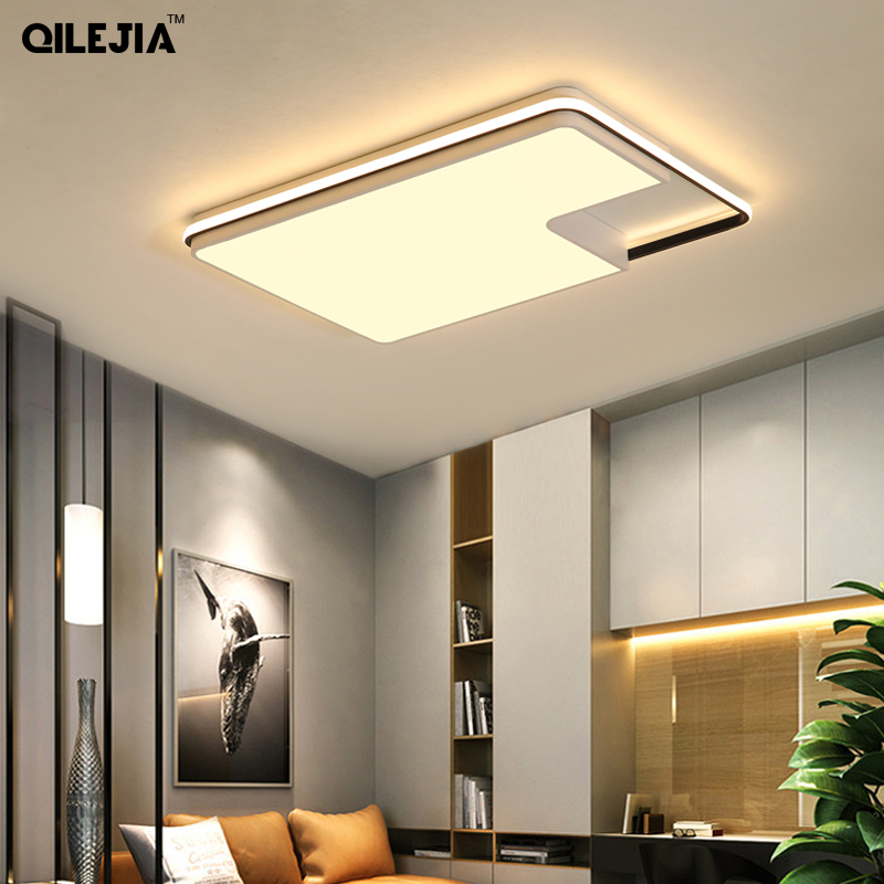Ultra-thin Surface Mounted Modern Led Ceiling Lights lamparas de techo Rectangle Crystal Square Ceiling lamp fixturesUltra-thin Surface Mounted Modern Led Ceiling Lights lamparas de techo Rectangle Crystal Square Ceiling lamp fixtures
