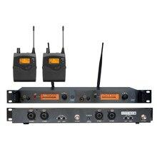 Быстрая! Беспроводной в ухо Monitor Системы, передатчик и 2 поясной приемники, профессиональный ушного мониторинга