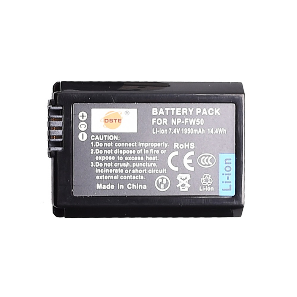 DSTE NP-FW50 Np-fw50 Camera Battery For Sony NEX-5N,NEX-3D,NEX-3DW,NEX-3K,NEX-5C,NEX-5D,NEX-5DB,Alpha 7RII,a6500,a6400,a6100