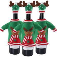 Ourwarm New Year Decoration Red Wine Bottle Cover Office Ugly Sweater Party Products Gifts Home Xmas Party Decor Supplies