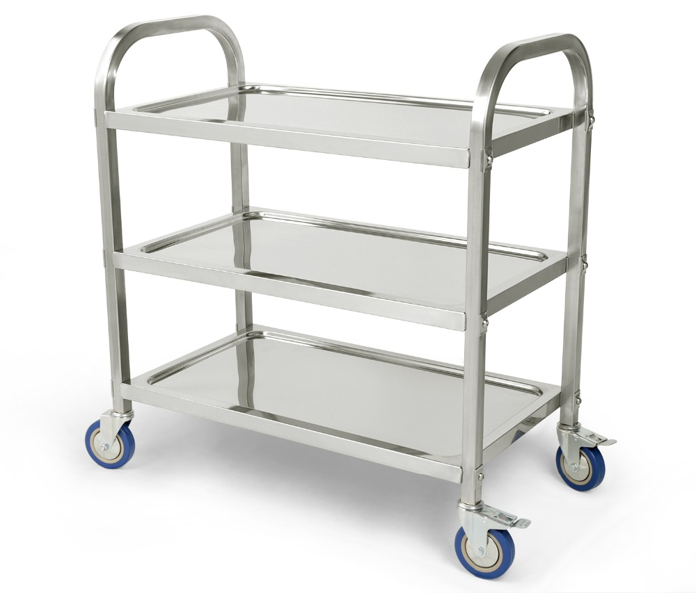 Kitchen Utility Cart With Wheels Black