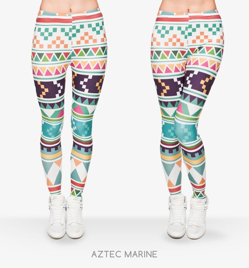 Zohra Brand New Fashion Aztec Printing legins Punk Women's Legging Stretchy Trousers Casual Slim fit Pants Leggings 7