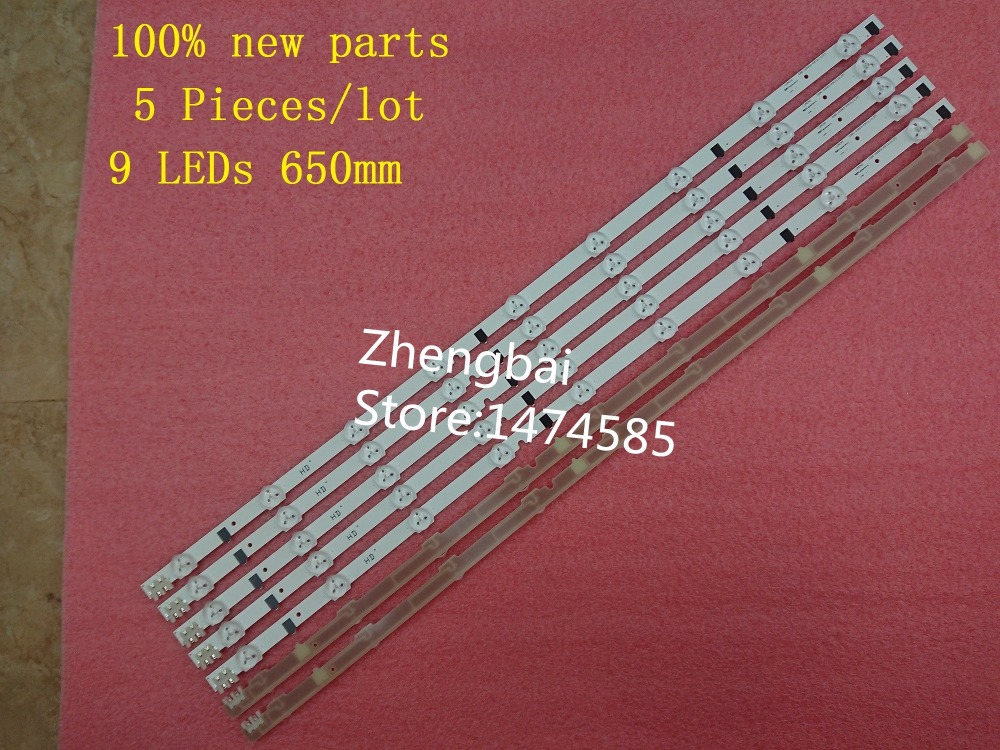 5 pieces/lot 100%New UA32F4088AR CY-HF320AGEV3H UE32F5000 UA32F4000AR LED strip D2GE-320SC0-R3 2013SVS32H 9LEDs 650mm 25300A
