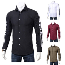 2019 Fashion Casual Shirts Men Long Sleeve Slim Fit Men's Button-Down Casual Shirt Formal Dress Shirts Men Clothes 2018 Camisa