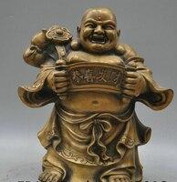 13 Tibetan Buddhism Bronze Bag Maitreya Buddha Sculpture Statue