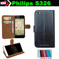 Кожи сальто Смартфон скольжению Чехол для Philips S326 Чехол Карты Слоты Кошелек 7 Цветов