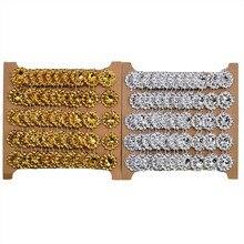 Lace DIY Trim Rhinestone Gold Silver Ribbon-Wrap Craft Crystal Wedding-Party-Decoration