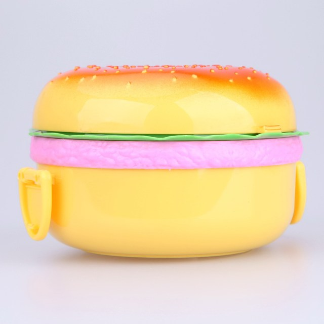Hamburger Lunch Box colorful kitchen utensils