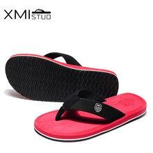 XMISTUO British style men shoes Cool Men Flip Flops for loose-fitting men beach slippers, rubber flip-flops outdoor men sandals