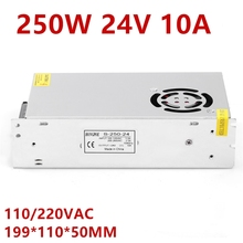 LED Power Supply 24V 10A 250W LED Driver Power Supply 24V Power 3528 5050 Lighting For  Fan cooling S 250 24