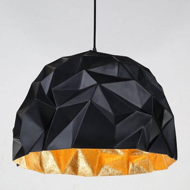 Modern Pendant Lights Restaurant Kitchen Loft Suspension Lamp Black/white Glass Fiber Reinforced Plastics E27 110-240V