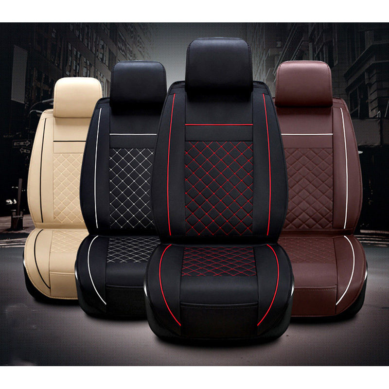 Car Seat Cover PU Leather Cushion Cover For Car Seat Protector For volvo v40 V60 peugeot lada granta Front Seat Car Cover