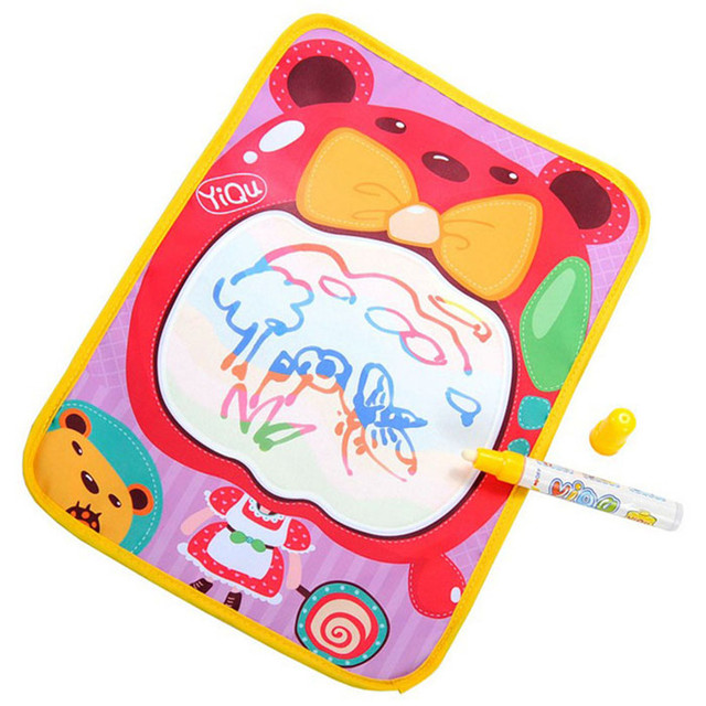 Y Water Drawing Painting Writing Mat Board+Magic Pen Doodle Toy 36*26.5CM Levert Dropship