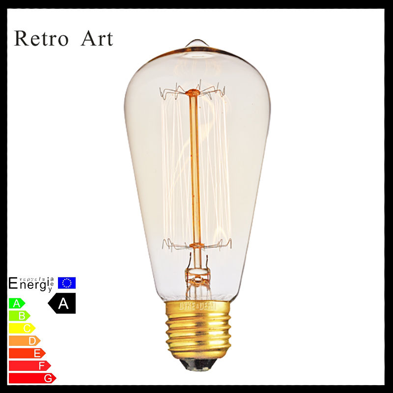 ST64 edison light bulbs 40W E27 retro vintage style filament edison bulb