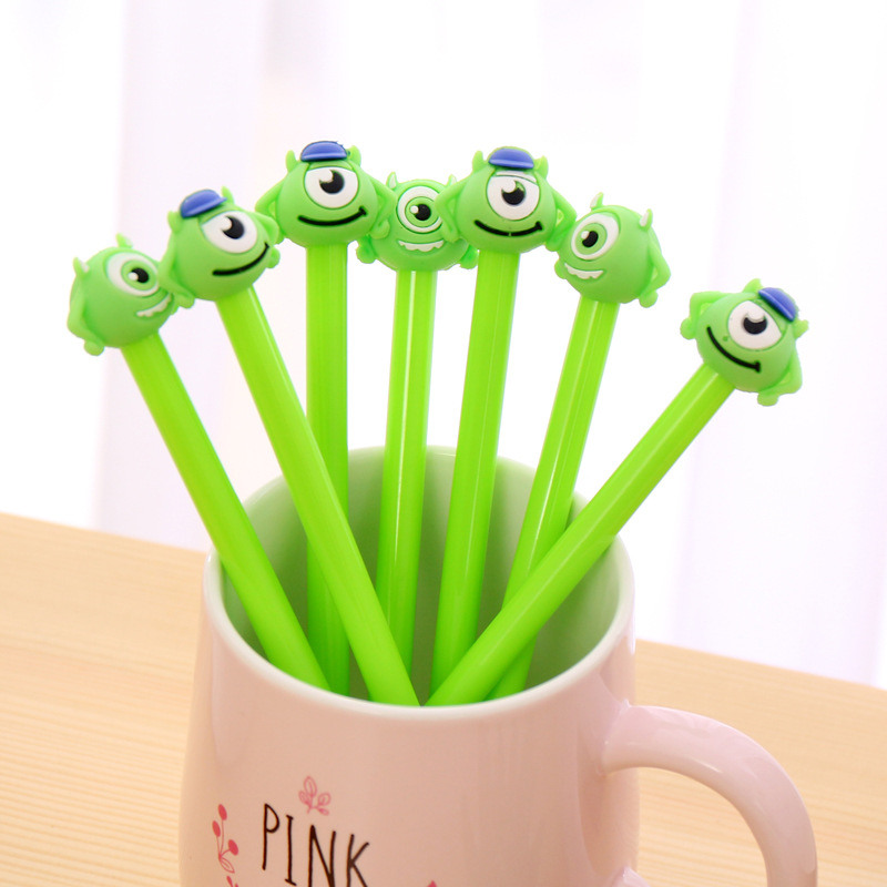 Creative Erasable Friction Monster Eye Cute Gel Pen Stationery Store Kawaii Escritorio Stationary School Kids Material Item Shop