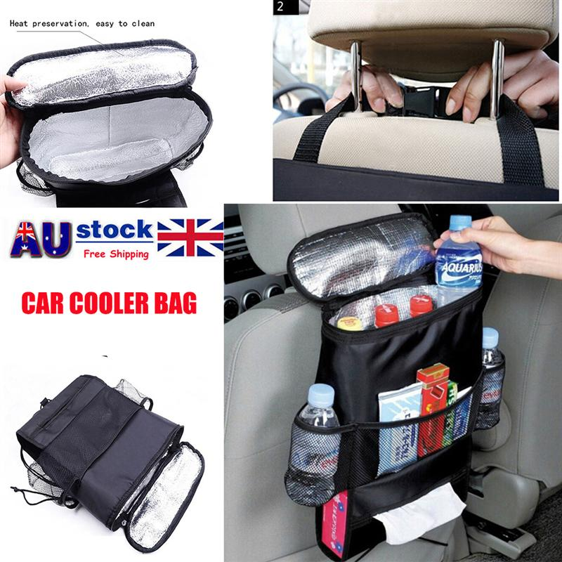 Auto Back Seat Organizer Multi Pocket Travel Storage Bag Car Back Of Seat Cooler Bag