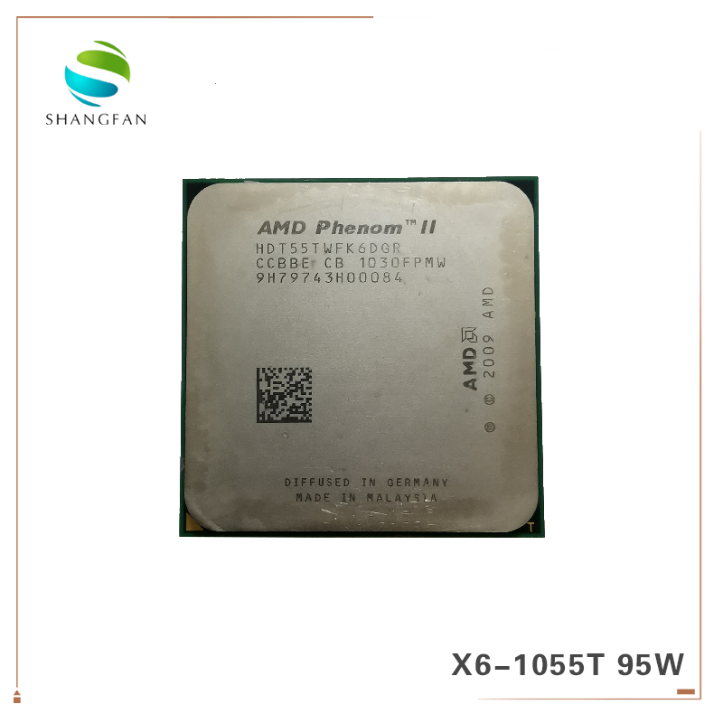AMD Phenom X6 1055T X6 1055T 2 8GHz Six Core CPU Processor HDT55TWFK6DGR 95W Socket AM3