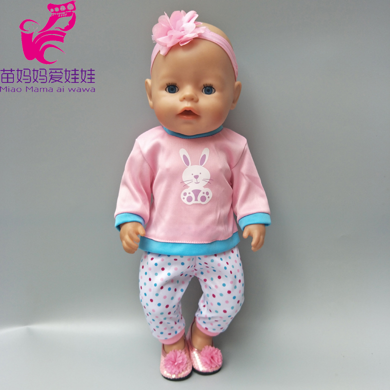 цены Clothes for baby born dolls pink clothes pants headband for 18