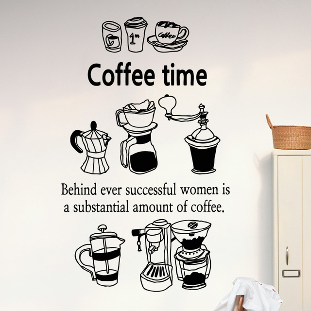 Dctal Coffee Shop Vinyl Decal Coffee Cup Coffee Bean