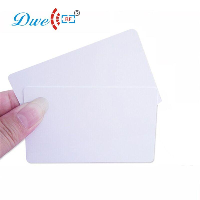 DWE CC RF 50pcs EM4305 T5577 Duplicator Copy Clone 125khz RFID Tag Access Control Porta Chave Card Sticker Token Ring Proximity