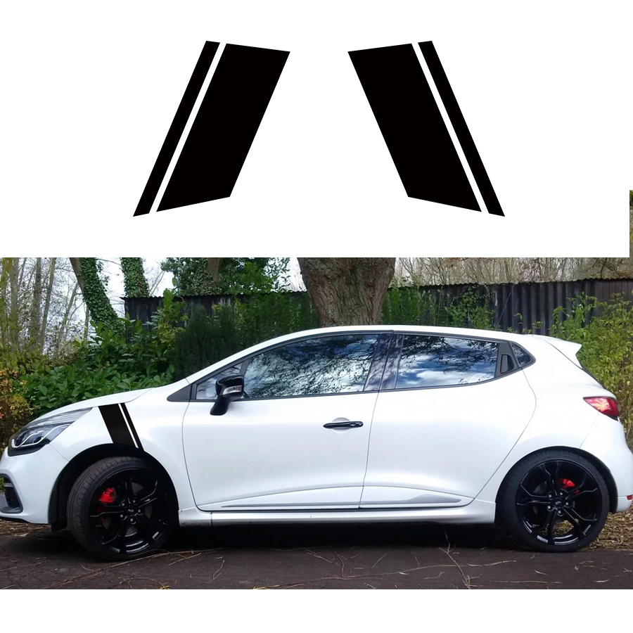 Custom car sticker for Car head fender stickers 2PC cool racing Stripe Styling Graphic Vinyl Modified Accessories decals