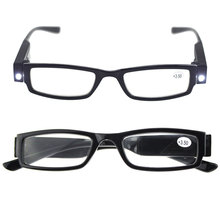 Multi Strength LED Reading Eyeglass Glasses Spectacle Diopter Magnifier Light UP 1.00-4.00 Diopter lentes de lectura hombre цена в Москве и Питере
