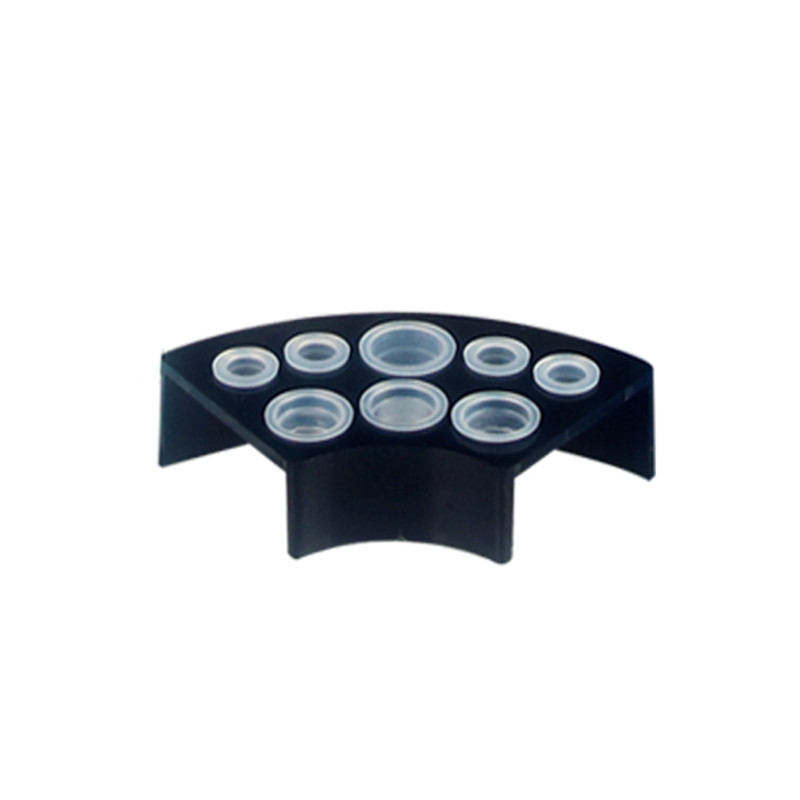 Flabellate pigment rack permanent makeup pigment cup Color pigment cup holder Black TC308