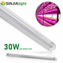 60 Cm T8 Buis Volledige Spectrum Led Grow Light Bar 30W 300 Leds Plant Groei Lamp Strip Voor Hydrocultuur aquarium Bloem Vegs Grow Tent