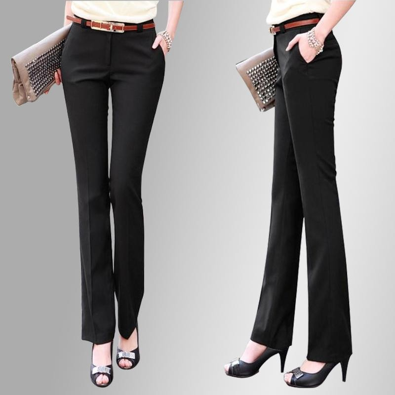 New 2018 Brand OL Style Suits Autumn Long Pants Elastic Slim Pencil Pants Trousers Formal Pants ...