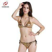 Fashion Triangle Top Leopard Printing Women Swimwear