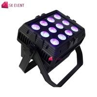 Strong signal 12x18w rgbawuv 6in1 led wireless dmx battery wash light wedding uplighting