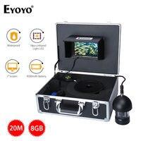 Eyoyo 7 TFT Цвет Мониторы 360 градусов HD 1000tvl 8 ГБ DVR 12vdc подводный Рыбалка Камера IP68 Рыболокаторы инфракрасный С 20 м кабель