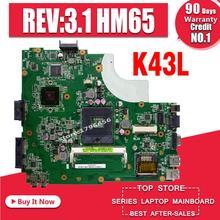 K43L материнских плат REV: 3,1 HM65 для ASUS X44H X84H K84L K43L K43LY Материнская плата ноутбука K43L материнская плата K43L Материнская плата Тест ОК