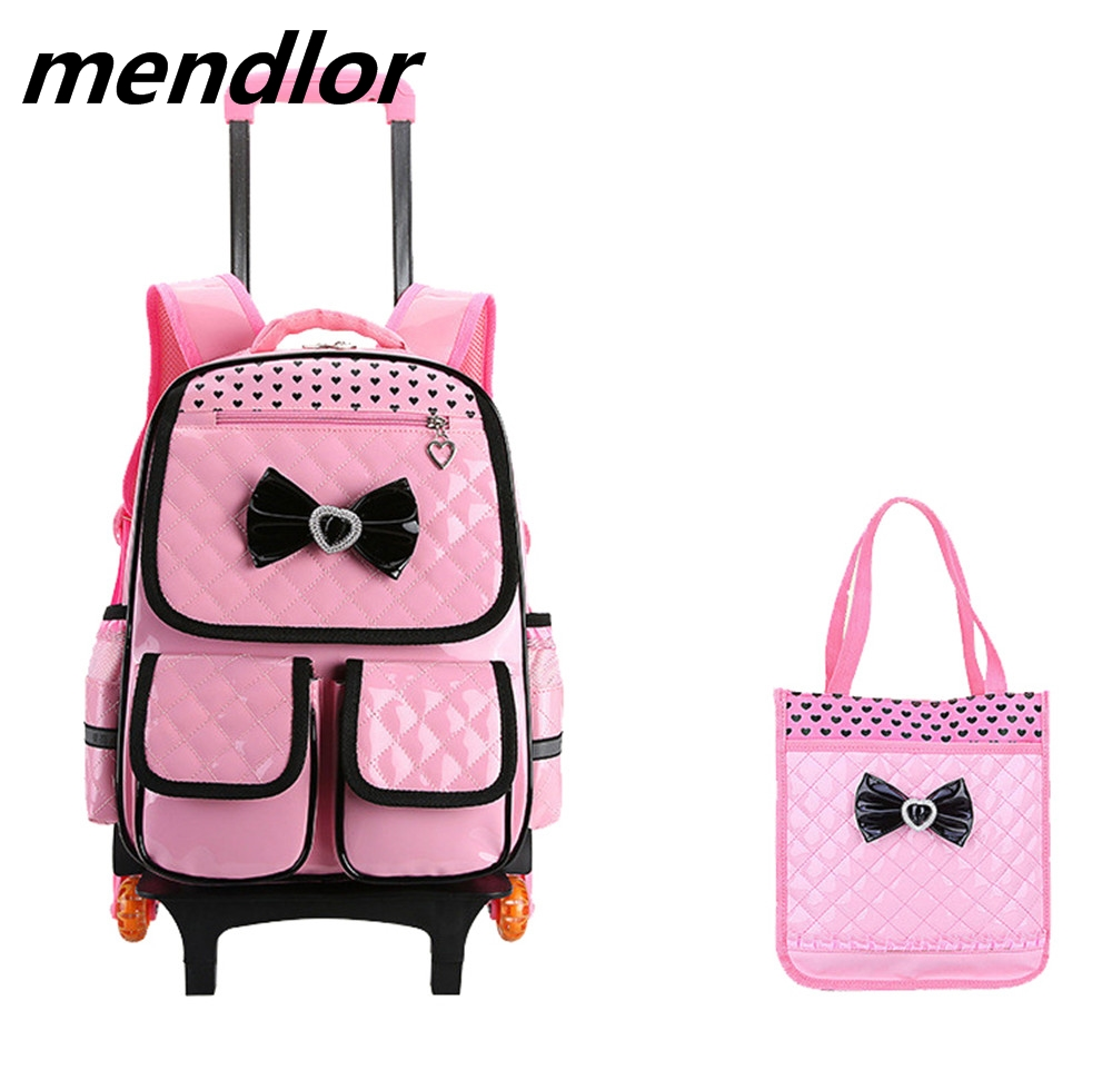 Trolley School Bag for Girls with 3 Wheels Backpack Children Travel Bag Rolling Luggage Schoolbag Kids Mochilas Bagpack handbag adjustable pressurized waist support belt coyoco brand gym sports weightlifting fitness running training waist brace protect