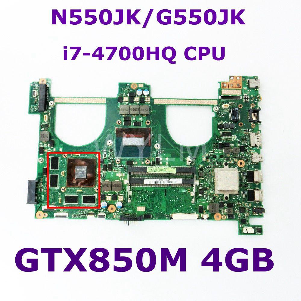 N550JK i7-4700HQ CPU GTX850M 4GB N15P-GT-A2 Mainboard REV 2.1 For ASUS Q550JV N550J N550JV N550JK G550JK Laptop motherboard n15p gt a2