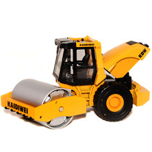 Super 1pc 1:50 13.5cm mini delicate Cadeve wheel road roller engineering van collect model alloy car home decoration gift toy(China)